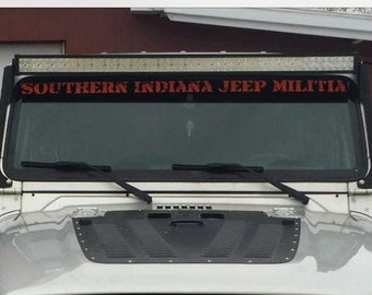 SIN-JM SHIPPED windshield banner
