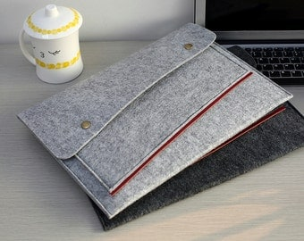 "Felt Macbook 13 Case , Felt Macbook 13"" Sleeve , Felt Macbook Pro 13 Case , Felt 13 inch Macbook Sleeve , 13 inch Laptop Sleeve #204"