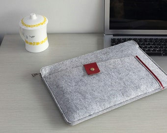 "Felt 13 inch Macbook Sleeve , 13 inch Laptop Sleeve , Felt Macbook 13 Case , Felt Macbook 13"" Sleeve , Felt Macbook Pro 13 Case #209"