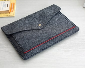 Dark Grey Felt Kindle Cover , Kindle Fire , Kindle Paperwhite , Felt Kindle Case , Felt Kindle Fire Cases and Covers #212