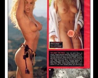 "Mature Celebrity Nude : Pamela Anderson Erika Eleniak Anna Nicole Smith Single Page Photo Wall Art Decor 8.5"" x 11"""