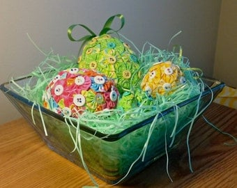 Fabric YoYo Easter Basket