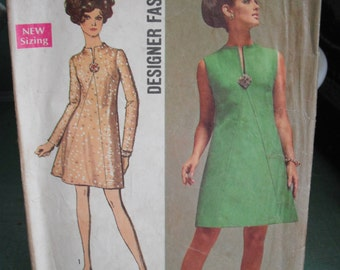 Vintage Sewing Pattern- Simplicity 8537, 1969,  Miss Size 16