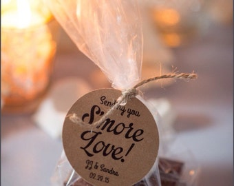 Smore Wedding Favor, Wedding Favor, Smore Favor Tags, Wedding Favor Tags, Wedding