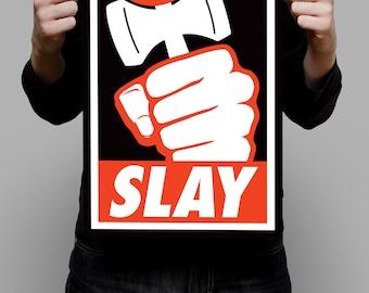 Kendama SLAY 11x17 Vector Art Poster