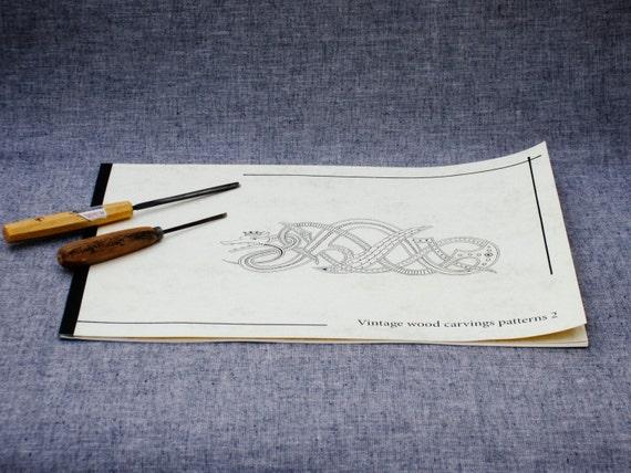 Vintage wood carving patterns dragon pattern viking