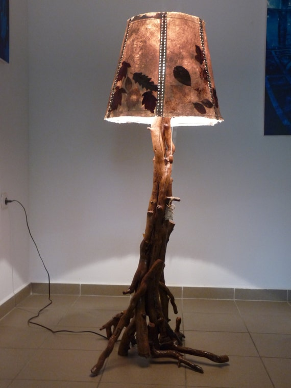 Wooden handmade floor lamp for Wooden floor lamp etsy