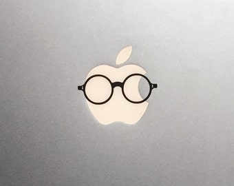 Vintage Glasses Macbook Decal / Macbook Pro Sticker