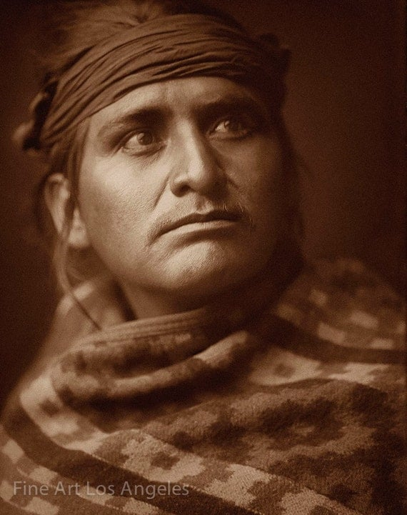 Edward Curtis Photo The Chief Of The Desert Navajo