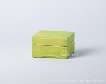 Small Wooden Box - Baby Keepsake Box - Memory Box - Jewelry Box - Beach Wedding Gift - Greenery Wedding - Ring Box - Earrings Box - Wood Box