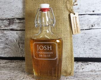 Glass Flask 250 ml Personalized - Best Man - Groomsmen - Bar Ware - Gifts for Men