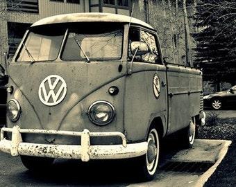 vw van pickup print / photo / park city, utah
