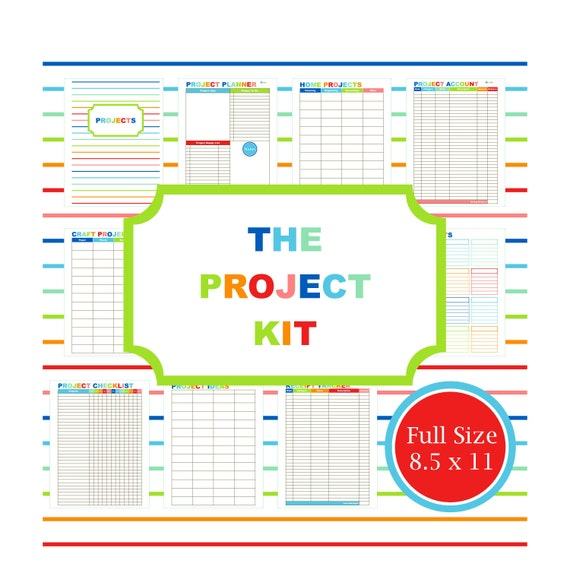 Project Planner Kit Printable Planner To Do List Budget Planner Home