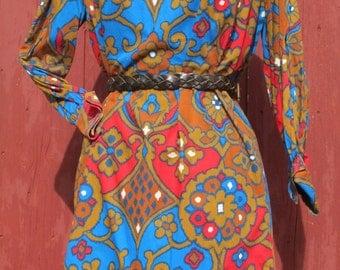 Stunning graphic 1960s mini dress