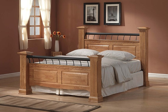 American White Oak Bed 4ft6 5ft Mattress Options By Efurnish1