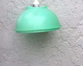 Vintage Green Tupperware Pendant Light - Unique Gift - Kitschy