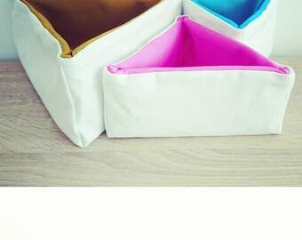 ELBo Geo Triangular Fabric Storage Boxes