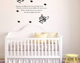 Decal wall No.. E 005 - the origin of the fairies... -child