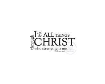 Christ gives me strength Phil 4:13 Digital File