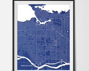 Vancouver Map Print, Vancouver Poster of British Columbia Map of Vancouver Gift Vancouver BC Canada Art, University Art Poster Dorm Room Art