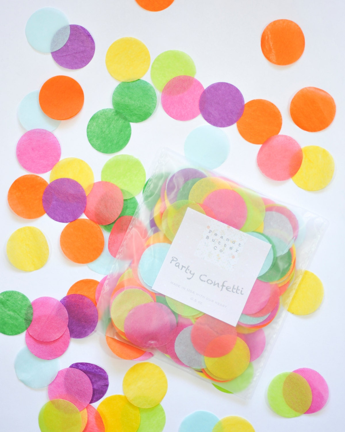 Rainbow confetti for baby shower decor baby shower confetti for Baby confetti decoration