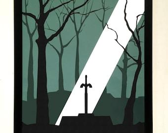 Zelda Inspired Screenprinted Video Game Poster