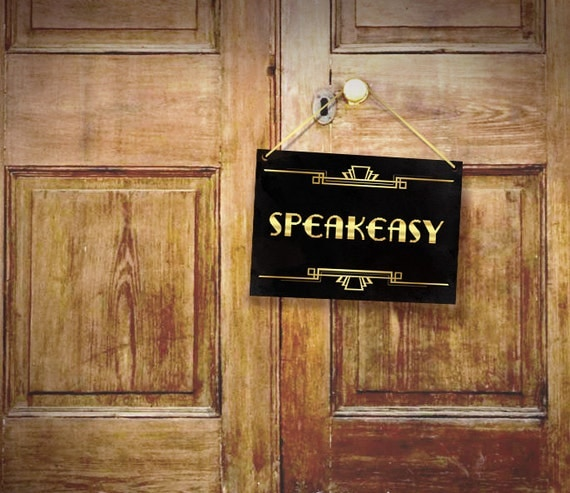 Speakeasy party decor art deco poster prohibition era party for 1920s party decoration speakeasy