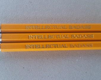 Intellectual Badass Pencils Back to School Party Favor
