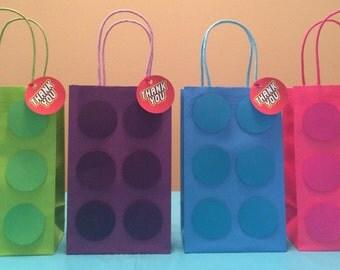 Building Block Party Favor Bags