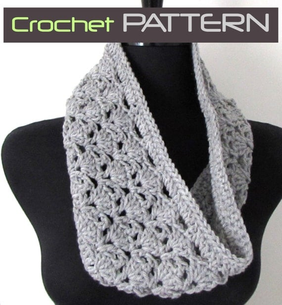 Crochet Infinity Scarf Pattern Shell : Lacy Cowl Crochet PATTERN Crochet Shells Scarf by ...