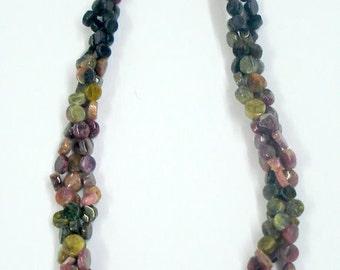 tourmaline gemstone beads necklace strand rajasthan india