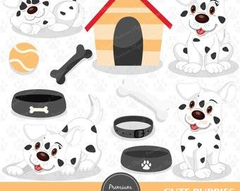 Puppy clipart, pet clipart, cute puppy clipart, dog clipart, dog birthday clipart, dog clip art digital clipart - CA137