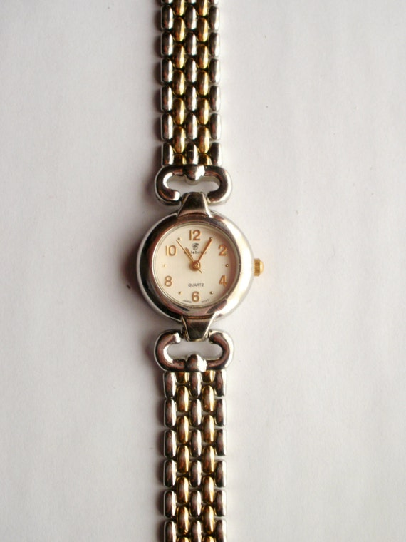 celebrity wrist watch ladies quartz watch dual tone gold and silver metal wrist watch women 39 s