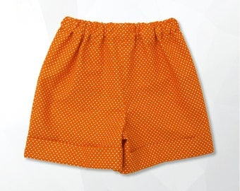 Short polka dot Orange