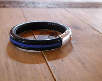 Men's Thin Blue Line Bracelet - Law Enforcement