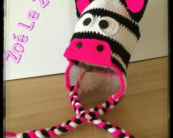 Tuque Zebra crochet