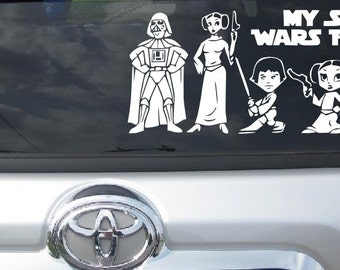 Family Car Stickers Etsy - Vinyl window clings for cars