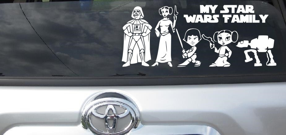 Star Wars Stick Figure Family My Star Wars Family Vehicle Car - Create car decalsanime decal etsy