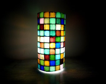 Chequered mood lamp