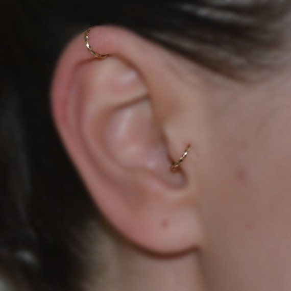 how to change rook piercing hoop
