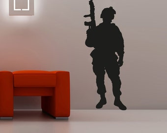Army Soldier Wall Decal Wall Stickers Large 163 cm X 58 cm 5 feet
