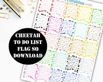Checklist Flag Sq Printable Planner Stickers // Erin Condren Printable / Plum Paper Planner / Planner Insert Instant Digital Download 00019