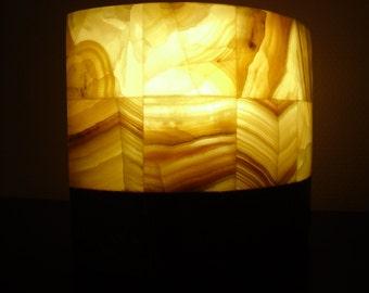 Lampe de table mini en onyx / Mini tafellamp in Onyx / Mini table lamp in onyx