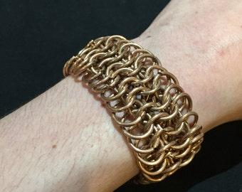 Bronze Chainmail Bracelet