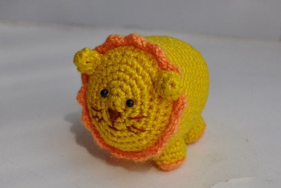 Little Amigurumi Lion : Little crochet lion Amigurumi lion Crochet toy by ...