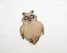 Owl MDF, lasercut owl, scrapbooking, craft supplies, wood, unfinished wood, wooden embelishments, wood cut outs, owl lser cut, owl laser