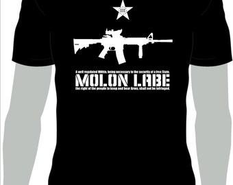 MOLON LABE!!! 2nd Amendment T-shirt