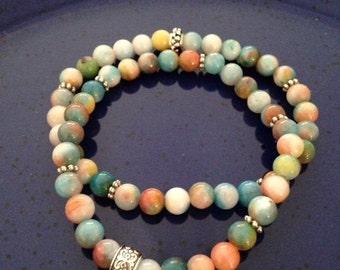 Healing Jade Organic Earth colors bracelet