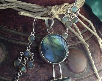 Sterling Silver Labradorite Jewelry Set
