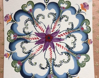 Rosemaling Purple and Ivy